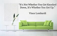 Vinyl Wall Decal Sticker Room Decor Saings Quotes Vince Lombardi Cool New F2050