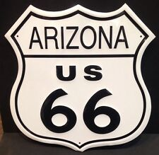 Arizona ruta 66 Vintage Retro Metal Acero Signo Escudo Garaje Bar Decoración de estudio