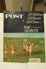 SEPTEMBER 9,1967 SATURDAY EVENING POST STORY ON THE QUINTS PLUS ADS & MORE