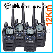 12Km Midland G7 PRO Dual Band Walkie Talkie Two Way PMR Radio Licence Free Quad