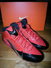 Brand New Mens Black & Red Nike Alpha Pro 3/4 D Football Cleats, Size 9.5