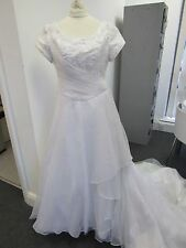 Beautiful Maggie Sottero White Wedding Dress Size 12 - CLE H70