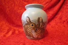 Burslem Pottery Hand Painted Rabbit Vase (Moorcroft) (Cobridge)