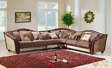 Chateau Formal Antique Style Traditional Living Room Furniture Sectional Sofa