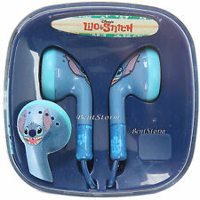 NEW Disney Lilo & Stitch Hawaii Alien Face EARBUDS Headphones Experiment 626