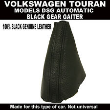 VW TOURAN DSG AUTOMATIC GEAR GAITER 100% REAL BLACK LEATHER