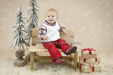 Holiday Christmas Bench photography prop Newborn vintage rustic wooden children