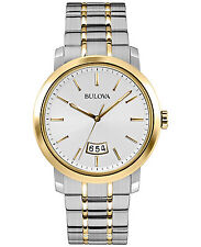 Bulova Men's 98B214 Quartz Silver Dial Two Tone Dress Watch