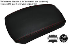 RED STITCHING LEATHER SKIN ARMREST SKIN COVER FITS KIA SPORTAGE 2004-2010