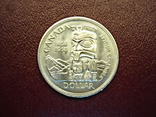 "1958 CANADA ""TOTEM POLE"" SILVER DOLLAR - NICE FROSTY SURFACES"