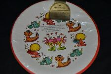 Vtg Hallmark TWEEPLES Collectible Paper Plates Cartoon Characters RARE Sealed!
