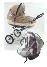 New Universal Raincover to fit Mamas Papas Zoom 3 in1 Pram & Car Seat (2 Covers)