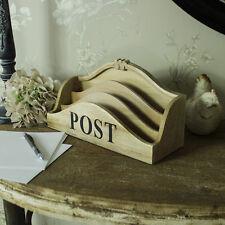 In legno 3 section da tavolo post organiser shabby chic vintage ufficio studiare