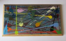 FREDERICK LOUIS METZLER PAINTING 1946-2013 ABSTRACT EXPRESSIONISM DRIP SPLASH