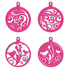 CRAFT CONCEPTS Universal Dies SWIRLS BIRDS BAUBLE TAGS 3 IN 1 CR371239 Cut Embos