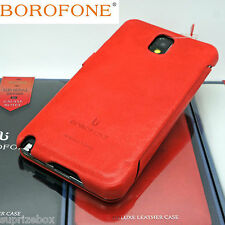 BOROFONE General Genuine Real Leather Book Case For SAMSUNG GALAXY NOTE 3 ORANGE