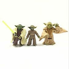 Lot 3pcs Star Wars Master Yoda Jedi Master Action Figure Movie Gift Toy