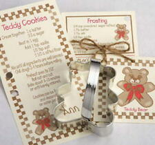 TEDDY BEAR ~ BABY CARRIAGE  tin cookie cutter DUO ~ MADE IN THE USA (NEW)