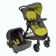 GRACO FAST ACTION SPORT TRAVEL SYSTEM PUSHCHAIR STROLLER & CAR SEAT & RAINCOVER