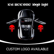 2X Punisher Skull LED Light Car Door Projector Ghost Shadow Laser Puddle Lamp