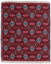 "Reversible Soft Throw Blanket Native American SW 50""x64"" Timeless Treasure"