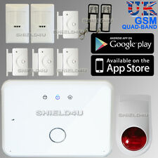 WIRELESS GSM AUTODIAL SMS HOME HOUSE OFFICE SECURITY BURGLAR INTRUDER ALARM +APP