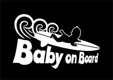 Baby on board surf car JDM VW VAG EURO Vinyl Decal Sticker Skate Jap sticker