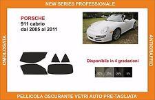 pellicola oscurante vetri pre tagliata porsche 911 cabrio dal 2005-11 kit compl