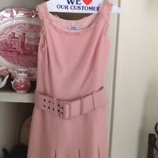 MOSCHINO CHEAP AND CHIC Salmon Pink 100% Virgin Wool Sleeveless Dress Sz 6