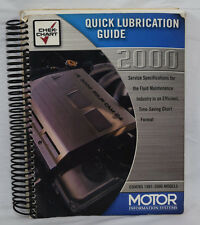 Motor Quick Lubrication Guide 1981-2000 Models Fluid Maintenance GM Honda Volvo