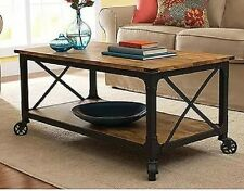 Rustic Coffee Table Sofa Accent Living Room Home Furniture Country Style Pine