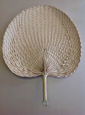 Vintage Thai Handicraft Fan From Nature Leaf Making handmade,Decoration Handle