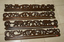 Hand carved Lacy Vine Wood Textile Wall Display Drapes Hanger Rod Rack 393,4,6