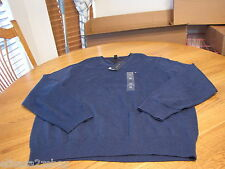 Men's Tommy Hilfiger long sleeve sweater shirt  v neck small bunker blue heather