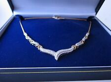 Collana di diamanti 0.63 luxurry Overlay Platino Argento non utilizzati 18 Sport