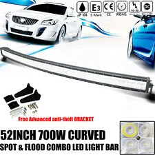 PHILIPS 6D+ 700W 52Inch Curved Flood Spot LED Light Bar Offroad Truck Lamps 50''