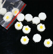 20 pcs White FlatBack Resin Sunflower DIY mobile phone case decoration cosmetic