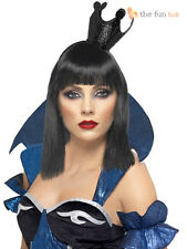 Evil Queen of Hearts Crown Alice Wonderland Black Tiara Halloween Fancy Dress