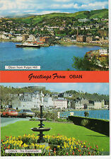 OLD POSTCARD - SCOTLAND - Greetings from Oban - multiview - Whiteholme -1986