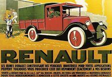 Art poster renault camion 1928 imprimer
