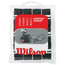 WILSON ADVANTAGE TENNIS OVERGRIP SET OF 12 BLACK OVER GRIP ALSO FOR PADEL TENNIS