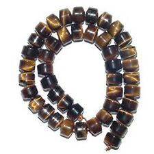 "TIGER EYE 9X12MM BARREL GEMSTONE BEADS 16""  A+ Tigereye"