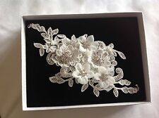 lace crystal cuff/ Bridal Hair Vine
