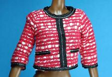 Barbie 2016 Vice President Red White Woven Fitted Top Black Trim