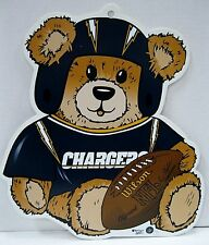 NFL Football San Diego CHARGERS Teddy Bear Plastic Sign by wincraft