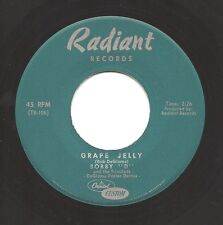 BOBBY D & TRINIDADS Grape Jelly  RARE Upstate NY Garage Frat 45 on Radiant  Hear