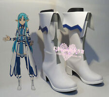 Anime Sword Art Online Asuna Yuuki Party White Halloween Girls Shoes Boots H016