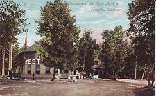 Canada Toronto - High Park Restaurant undivided back used not mailed postcard