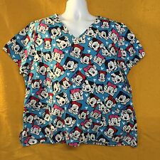Disney Mickey Minnie Mouse Scrub Top SZ 2XL Uniform Pediatrics Nursing Medical