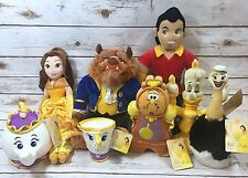 NWT Disney Store Beauty and the Beast Plush Lot Gaston Lumiere Fifi Cogsworth+++